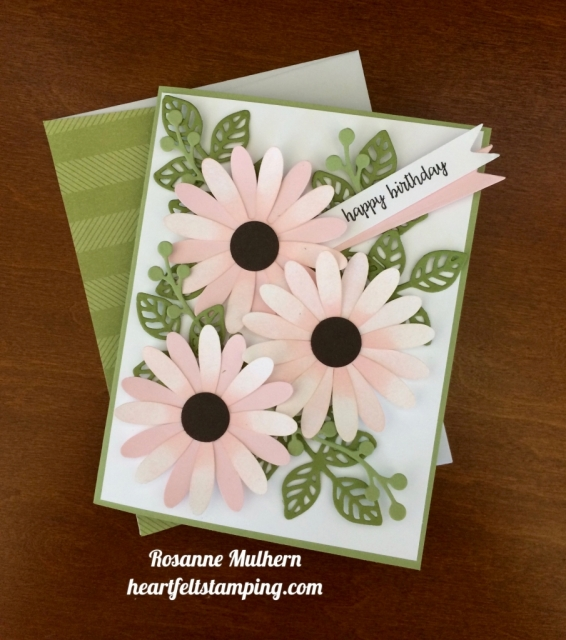 Stampin Up Daisy Punch Birthday Card Ideas - Rosanne Mulhern stampinup