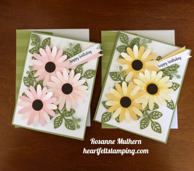 Stampin Up Daisy Punch Birthday Card - Rosanne Mulhern stampinup