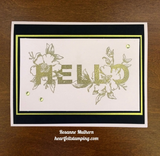 Stampin Up Floral Statements Card Idea - Rosanne Mulhern stampinup
