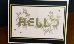 Stampin Up Floral Statements Card - Rosanne Mulhern stampinup