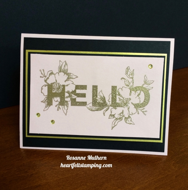 Stampin Up Floral Statements Card - Rosanne Mulhern stampinup