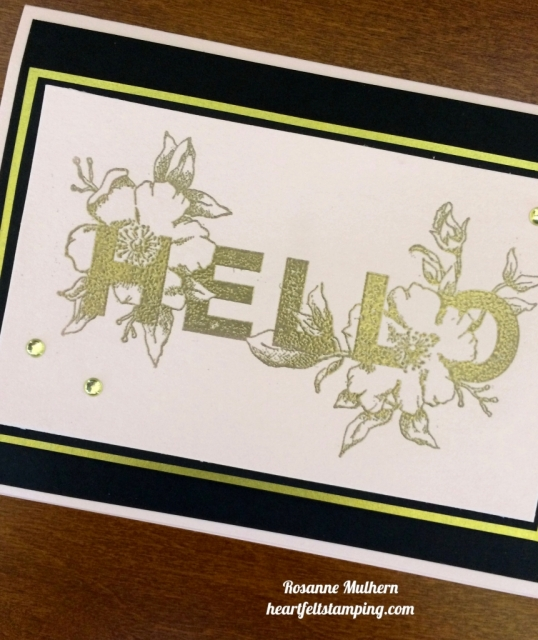 Stampin Up Floral Statements Cards Idea - Rosanne Mulhern stampinup