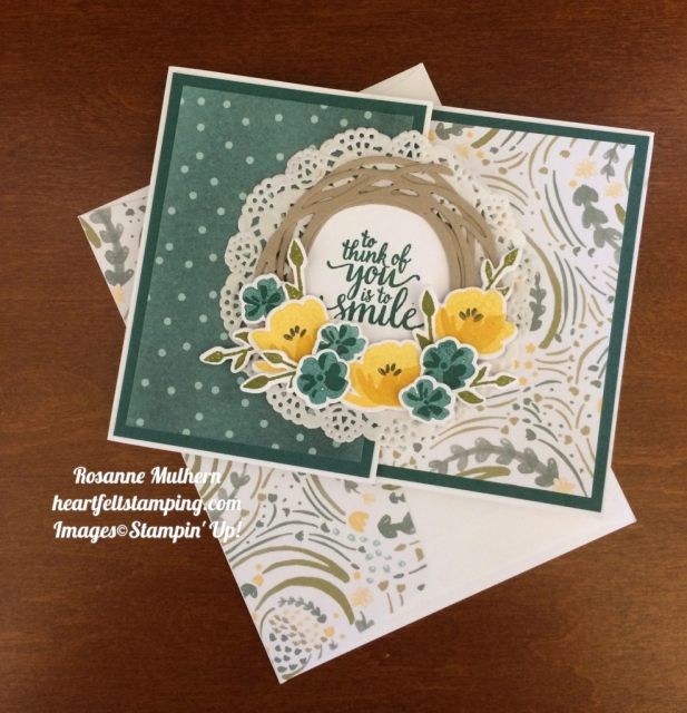 Stampin Up Jar of Love Just Because Card Idea - Rosanne Mulhern stampinup