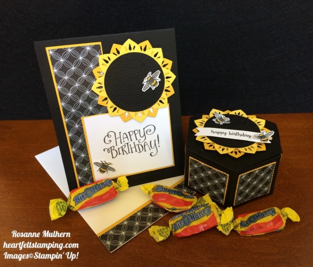 Stampin Up Eastern Medallion and Window Box Birthday Gifts Set - Rosanne Mulhern stampinup
