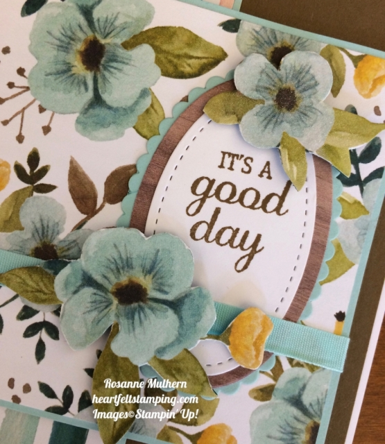 Stampin Up Whole Lot of Lovely and Best Birds Birthday Card Idea - Rosanne Mulhern stampinup