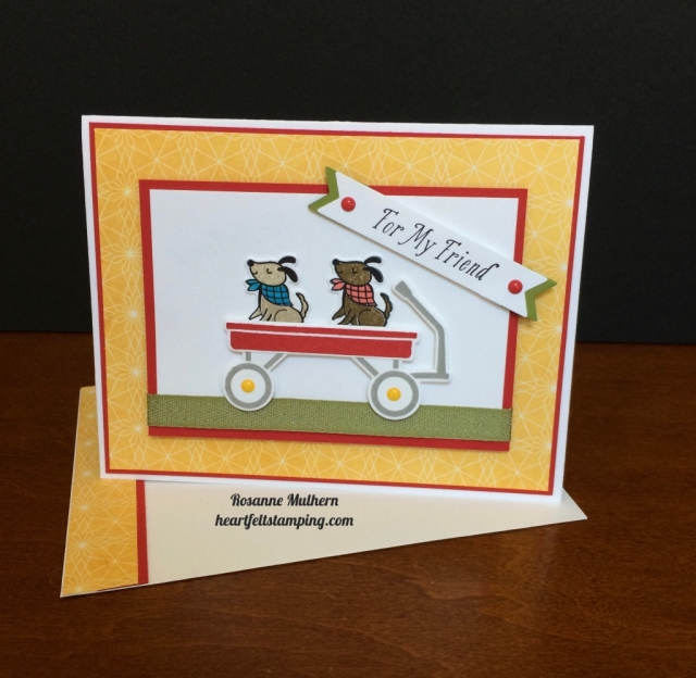 Stampin Up Bike Ride and Grown with Love Friendship Card - Rosanne Mulhern stampinup