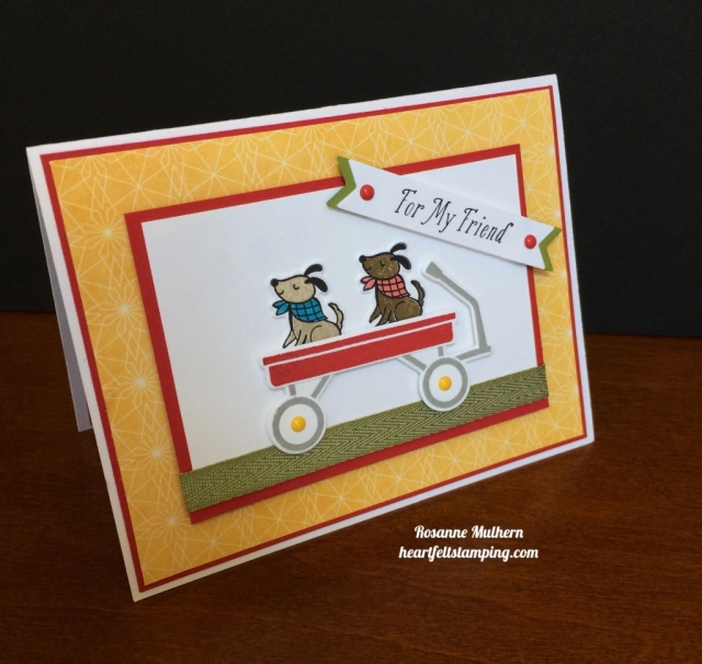 Stampin Up Bike Ride and Grown with Love Friendship Cards Idea - Rosanne Mulhern stampinup'