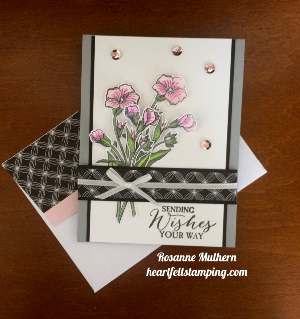 Stampin Up Butterfly Basics Birthday Card Idea - Rosanne Mulhern