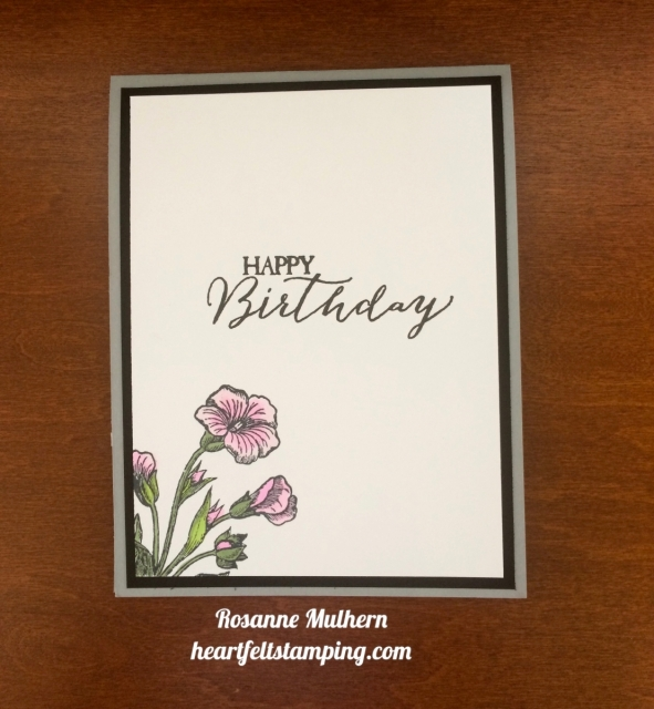 Stampin Up Butterfly Basics Birthday Cards Idea - Rosanne Mulhern