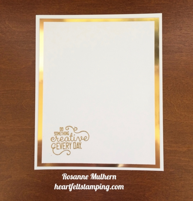 Stampin Up Crafting Forever Notecard - Rosanne Mulhern