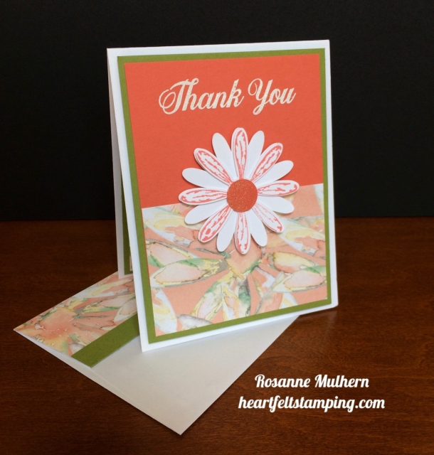 Stampin Up Daisy Delight Thank you - Rosanne Mulhern