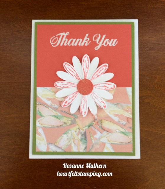 Stampin Up Daisy Delight Thank you card - Rosanne Mulhern