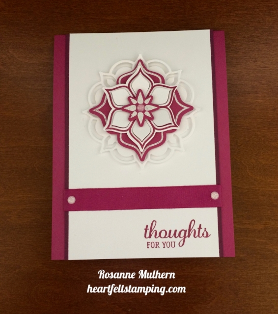 Stampin Up Eastern Beauty Thinking of You Card Idea- Rosanne Mulhern