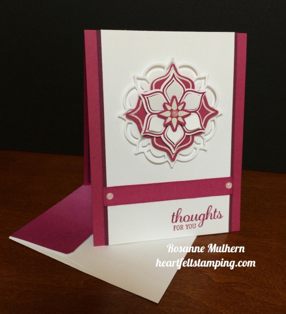 Stampin Up Eastern Beauty Thinking of You Card Ideas- Rosanne Mulhern