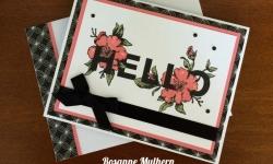 Stampin Up Floral Statements Firiendship Card - Rosanne Mulhern stampinup