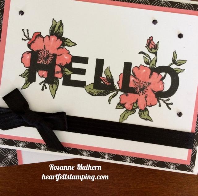 Stampin Up Floral Statements Friendship Card Idea - Rosanne Mulhern stampinup