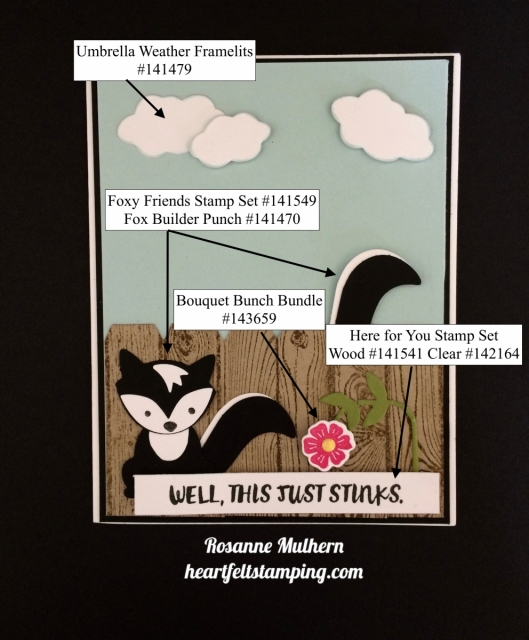 Stampin Up Fox Builder, Here for You Encouragement Card Idea - Rosanne Mulhern