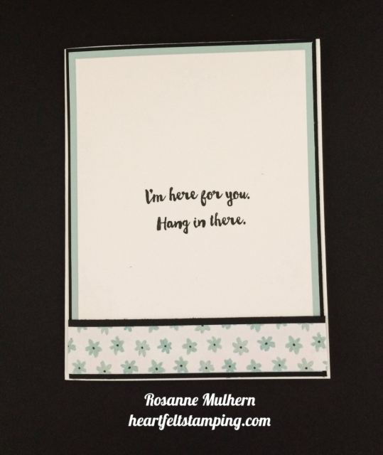 Stampin Up Fox Builder, Here for You Encouragement Card Ideas- Rosanne Mulhern