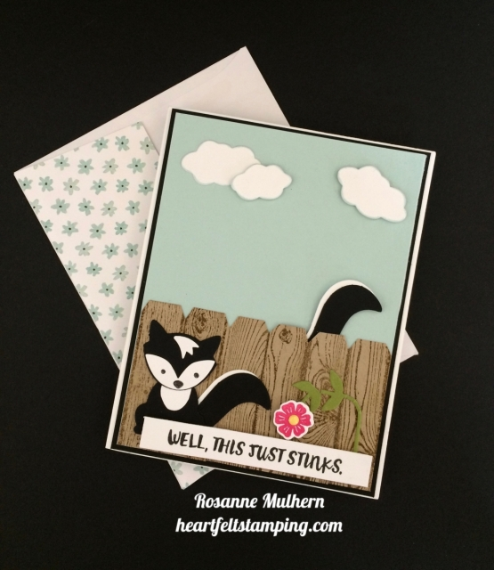 Stampin Up Fox Builder, Here for You Encouragement Card - Rosanne Mulhern