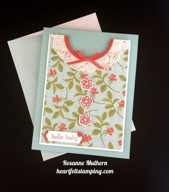 Stampin Up Petal Garden Baby Card Idea - Rosanne Mulhern