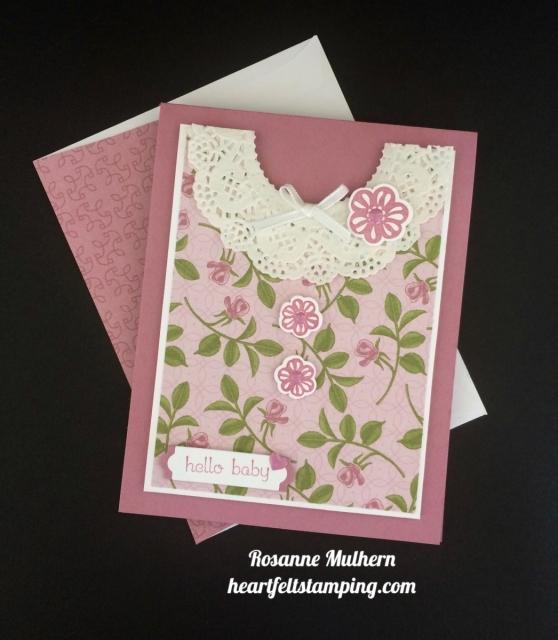 Stampin Up Petal Garden Baby Cards Idea - Rosanne Mulhern