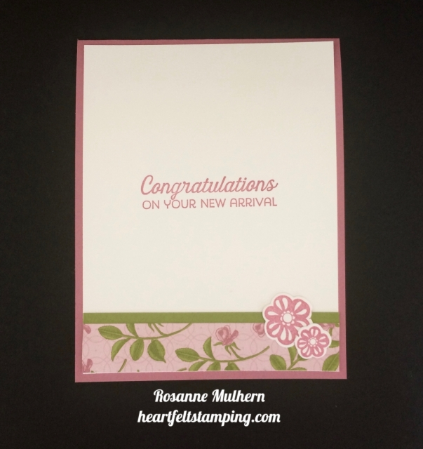 Stampin Up Petal Garden Baby Cards Ideas - Rosanne Mulhern