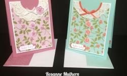 Stampin Up Petal Garden Baby Cards - Rosanne Mulhern