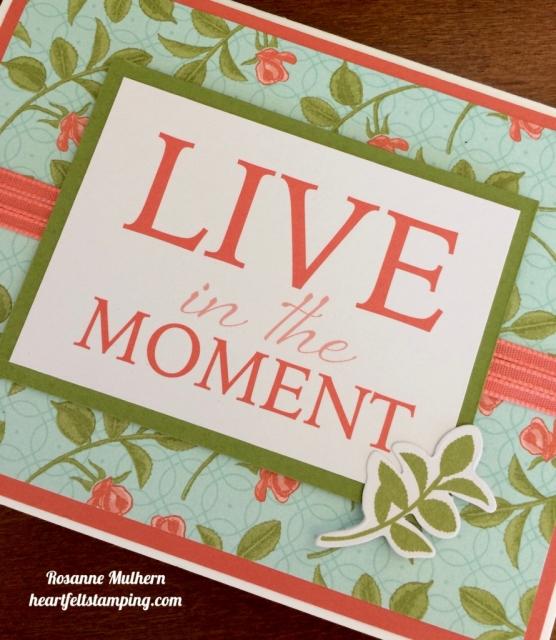 Stampin Up Petal Garden Friendship Card Idea - Rosanne Mulhern
