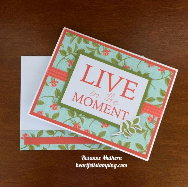 Stampin Up Petal Garden Friendship Card - Rosanne Mulhern stampinup