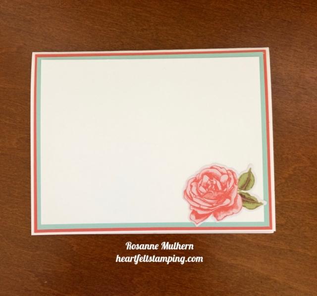 Stampin Up Petal Garden Friendship Cards Idea - Rosanne Mulhern stampinup