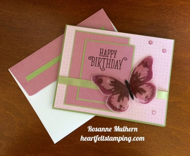 Stampin Up Watercolor Wings Birthday Card - Rosanne Mulhern stampinup