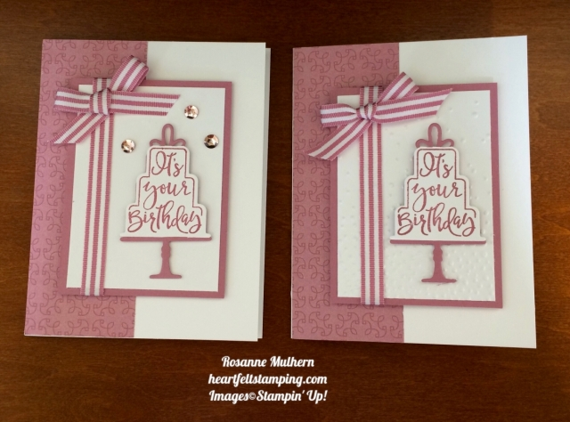 Stampin Up Celebration Time Birthday Card Idea- Ros