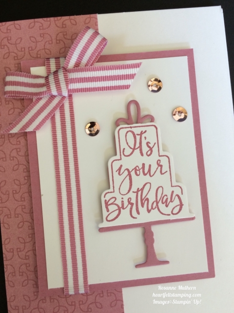 Stampin Up Celebration Time Birthday Cards Idea- Rosanne Mulhern