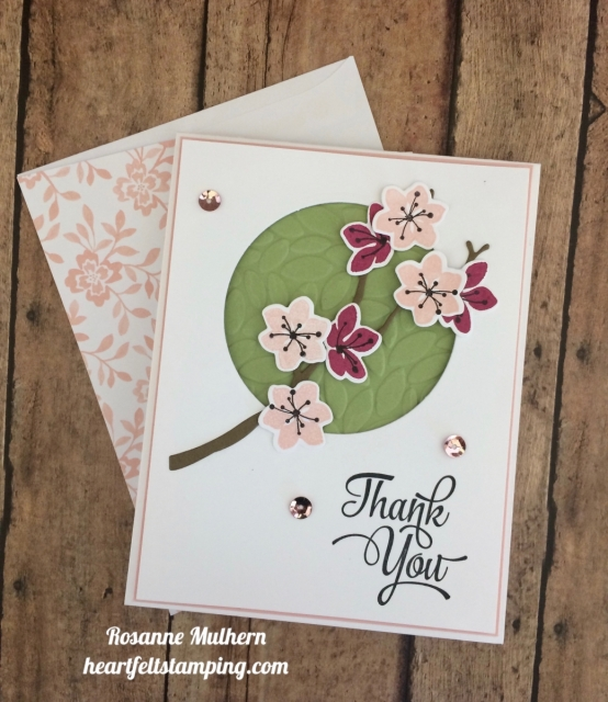Stampin Up Color Seasons Thank You Card Idea- Rosanne Mulhern