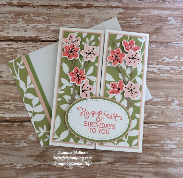 Stampin Up Colorful Seasons Gatefold Birthday Card - Rosanne Mulhern