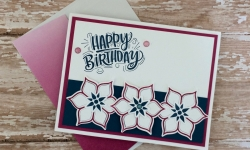 Stampin Up Eastern Beauty Birthday Card Idea - Rosanne Mulhern
