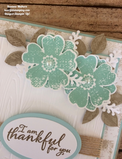 Stampin Up Flower Shop and Painted Autumn Thank you card idea - Rosanne Mulhern