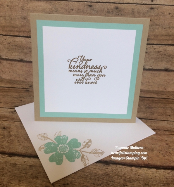 Stampin Up Flower Shop and Painted Autumn Thank you cards idea - Rosanne Mulhern