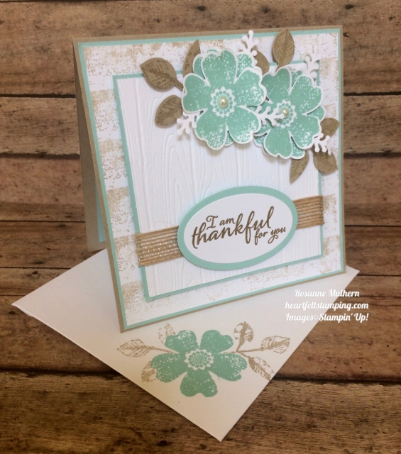 Stampin Up Flower Shop and Painted Autumn Thank you cards ideas - Rosanne Mulhern