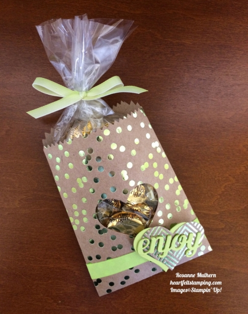 Stampin Up Foil Frenzy Mini Treat Bag - Rosanne Mulhern