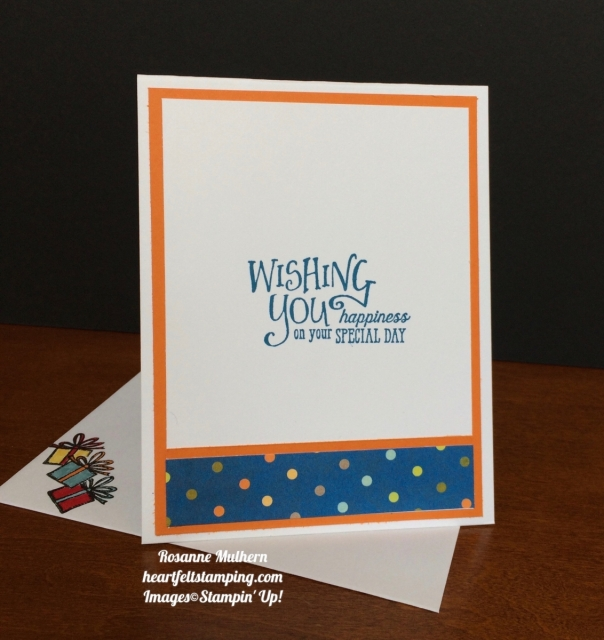 Stampin Up Happy Birthday Delivery Birthday Card Idea - Rosanne Mulhern