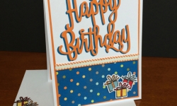 Stampin Up Happy Birthday Delivery Birthday Card - Rosanne Mulhern