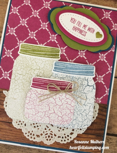Stampin Up Jar of Love friendship card idea - Rosanne Mulhern