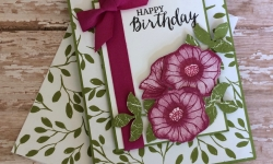 Stampin Up Oh So Eclectic Birthday Card - Rosanne Mulhern