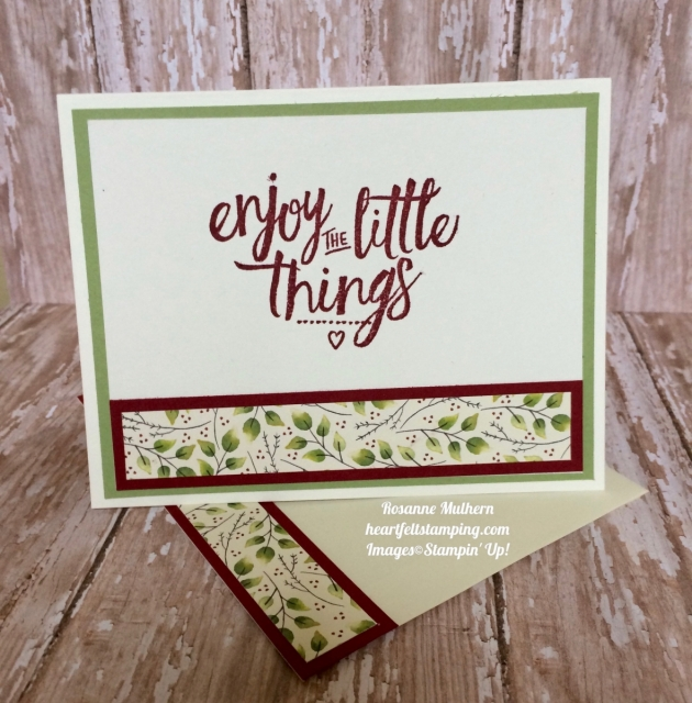 Stampin Up Painted Autumn DSP Thinking of You Card Idea- Rosanne Mulhern