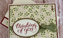 Stampin Up Painted Autumn DSP Thinking of You Cards Idea- Rosanne Mulhern