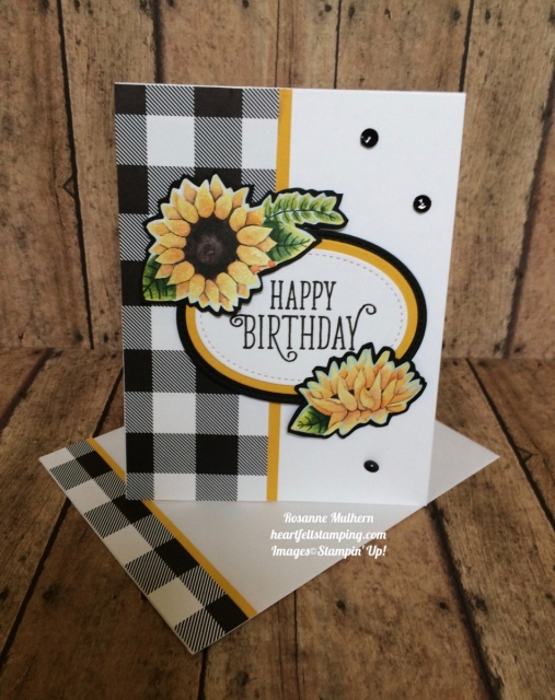 Stampin Up Painted Autumn Designer Series Paper and Happy Birthday Gorgeous Birthday Card - Rosanne Mulhern