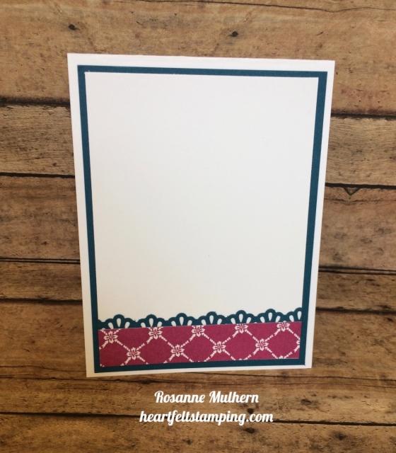 Stampin up Jar of Love Friendship card inside idea - Rosanne Mulhern