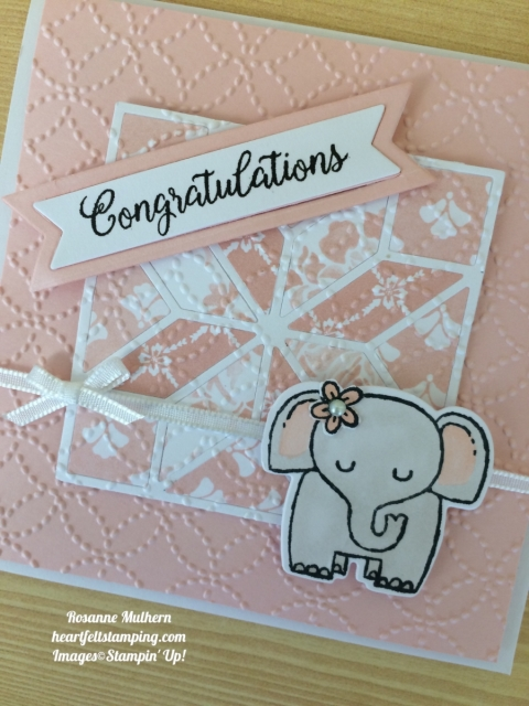 Stampin Up A Little Wild Baby Cards Idea- Rosanne Mulhern
