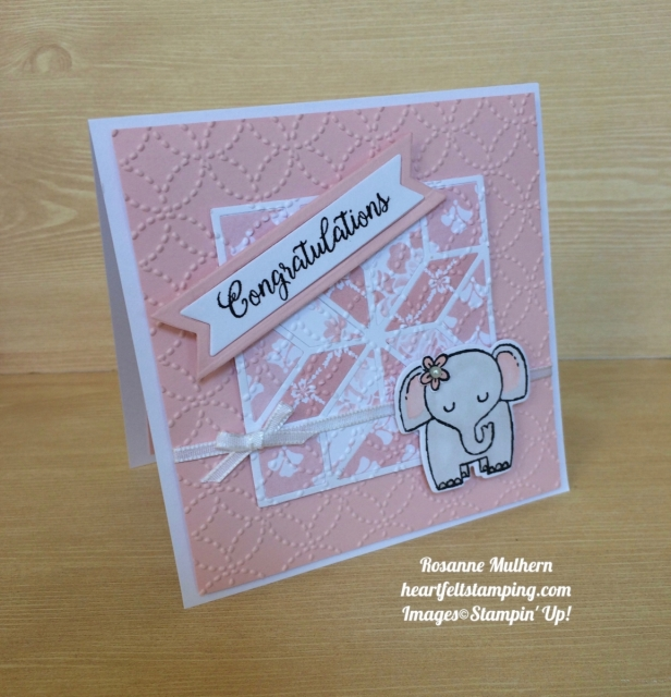 Stampin Up A Little Wild Baby Cards - Rosanne Mulhern